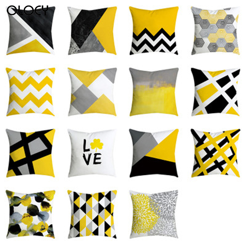 Pineapple Leaf Yellow Pillow Sofa Cushion Car Seat Under The Back Cover Home Decoration Hotel Accommodation Sofa Bed Decoration.