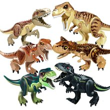 Jurassic Dinosaur DIY Assembly Building Blocks Dino Toys World Bricks Christmas Birthday Gift Educational
