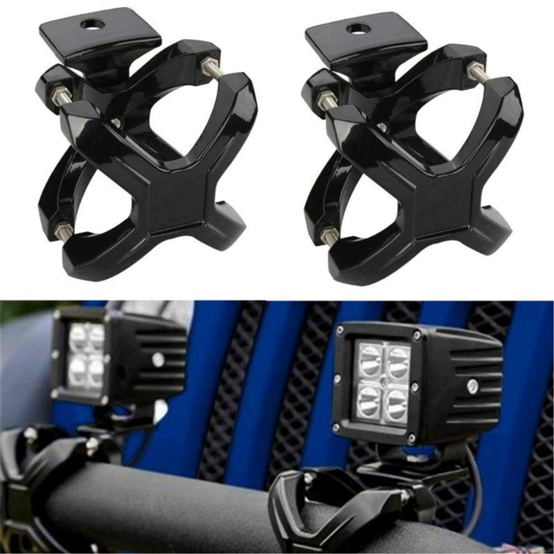 Adjustable LED Work Light Bracket For 2-3 Inch Tube Bumper Bar Tube Roll And Cage Universal X-Clamp Light Mount Mounting Bracket