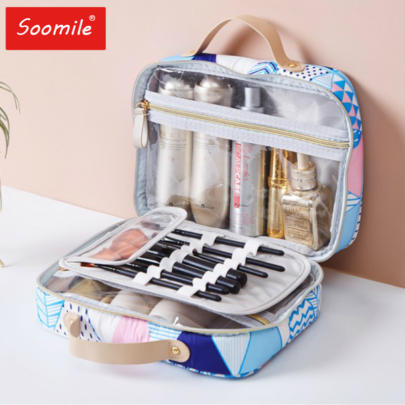 2020 New Women Fashion Professional Beauty Travel Makeup Organizer Empty Big Make Up Bag Artist Cosmetic Case Large Storage Bag