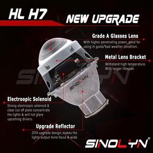 Image 3 - Sinolyn פנס עדשות H7 LED 3.0 עבור Hella 3r H7 D2S D2H HID הלוגן bi קסנון מקרן עדשת רכב אורות אביזרי Retrofit