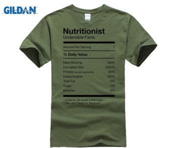 Nutritionist Nutrition Facts Funny Cute Gag T-shirt  men's Tees Cotton Tops T Shirt Vintage Crew Neck - discount item  48% OFF Tops & Tees