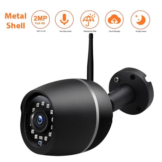 Wonsdar 1080P WIFI IP Camera Outdoor HD Metal Wireless Wired Bullet Security Camera Mini Weatherproof Night Vision P2P