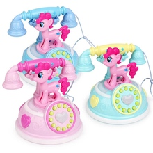 Retro Children Unicorn Phone Toy Early Education Story Machine Baby Phone Emulated Telephone Toys For Children Musical Toys