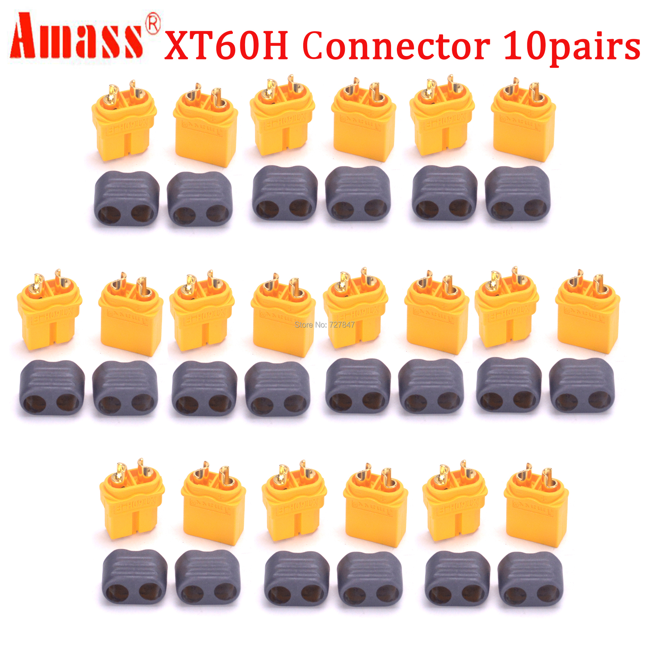 20pcs(10 Pairs) High Quality XT30 XT30U XT60 XT60H XT60L XT60PW  XT90 XT90S Connector Plug For Battery Quadcopter Multicopter