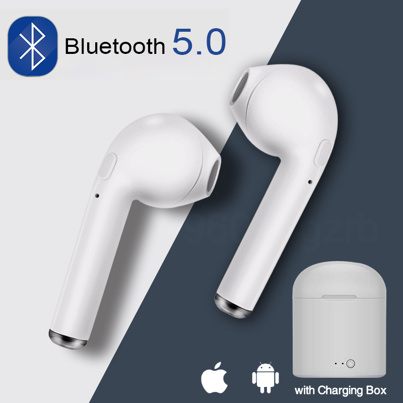 i7s <font><b>TWS</b></font> Mini <font><b>Bluetooth</b></font> Earphone in-ear Earbuds Headset wireless headphone With Mic with charging box can choose image