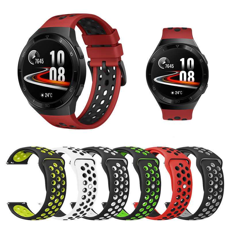 Silicone Replacement Breathable Band For Huawei Watch GT 2e Strap GT 2 46mm Strap 22mm Replacement Strap