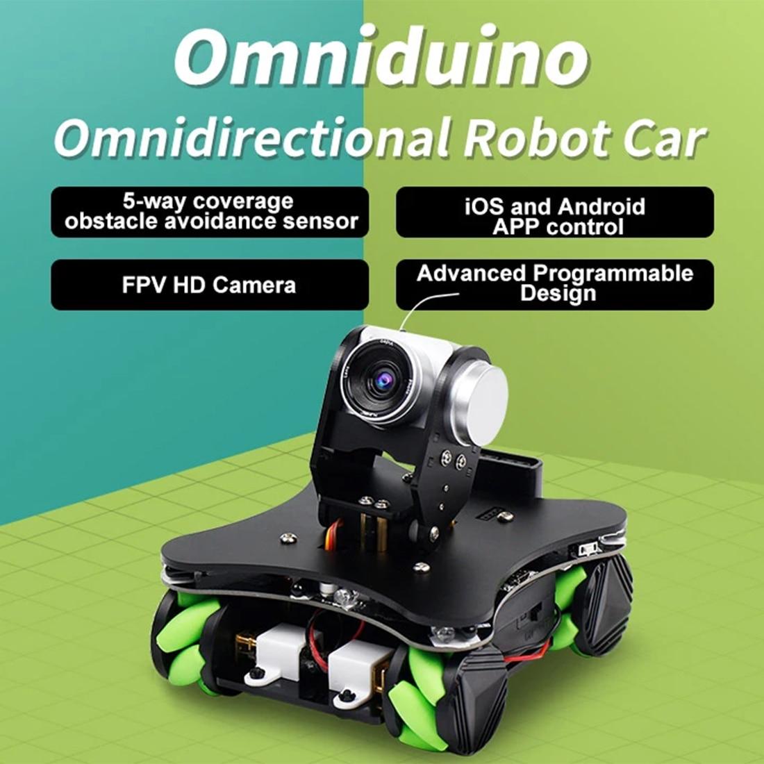 WiFi AI Camera FPV IR Infrared Sensor Smart Robot Car With Mecanum Wheel For Arduino (with 2 18650 Batteries)
