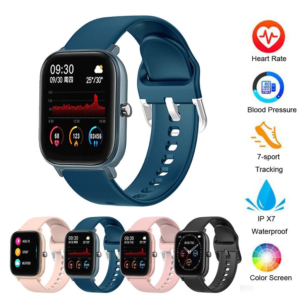 P8 sport montre intelligente Fitness fréquence cardiaque Bracelet intelligent écran tactile IPX7 étanche 1.4 pouces résolution 240x240 écran