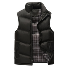 Mens Vest Down Cotton Thermal Jacket Black Blue Travel  Vests Outerwear Winter