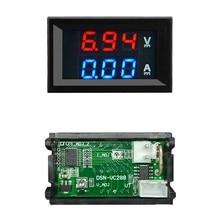 Mini voltímetro amperímetro digital dc 100v 10a, painel amperímetro voltímetro medidor de corrente detector teste led duplo 0.56 pol carro de exibição automática