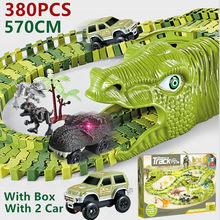 Ensemble de jouets pour enfants de 2 à 4 ans, jeu de voitures, pistes de dinosaures, Train, chemin de fer, véhicule de course, jouets pour enfants, noël