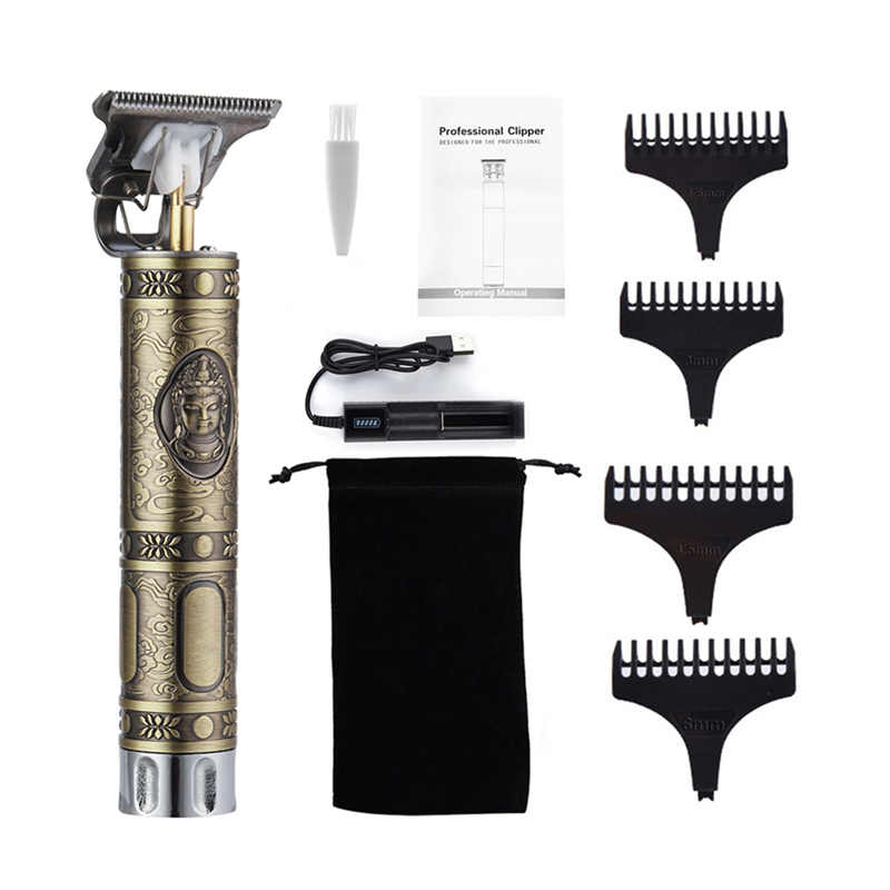 WITH BOX-USB Rechargeable T9 Hair Clipper
