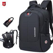 Marka İsviçre 17 inç dizüstü sırt çantası erkek USB şarj seyahat sırt çantası okul çantası naylon su geçirmez sırt çantaları kadın sırt çantası Mochila