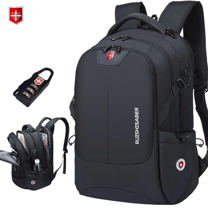 Marke Schweizer 17 zoll Laptop Rucksack Männer USB Lade Reise Rucksack Schule Tasche Nylon Wasserdichte Rucksäcke Frauen rucksack Mochila