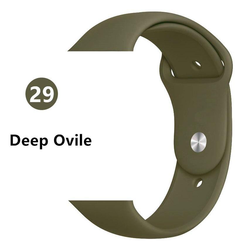 Ремешок для apple watch band 44 мм/40 мм iwatch band 5 4 42 мм 38 мм correa pulseira watch band для apple watch 5 4 3 браслет 44 мм - Цвет ремешка: Dark Olive