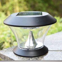8 светодиодный круглый Солнечный столб лампа двора сада Стены Двери пост ландшафтный светильник