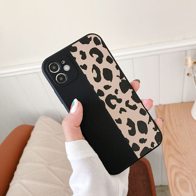 Ranipobo Leopard Print Phone Case For iPhone 12 11 X XR XS Max Soft Back Cover Shockproof Fashion Cover For iPhone 12 7 8 7Plus 3