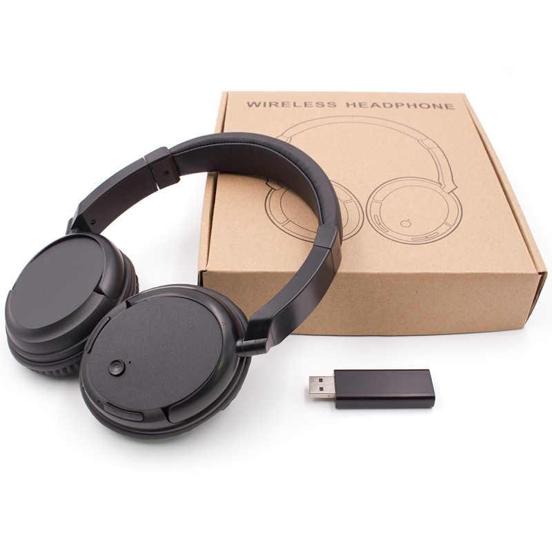 Auriculares externos profesionales para TV, PC, ordenador, MP3, TV, auriculares con compatibilidad con función FM, con transmisor USB, PK Bingle B616