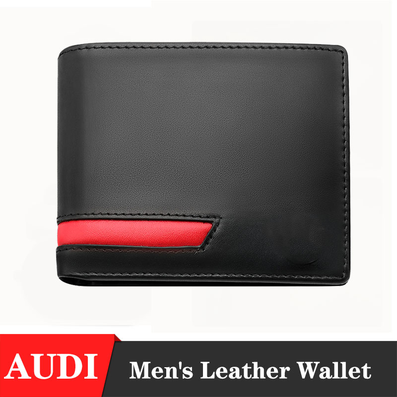 Leather Men Wallet Car Driver License Holder Credit Card Wallet Men s gift wallet with brand car logo for Audi A3 A4 B4 A5 A6 A7