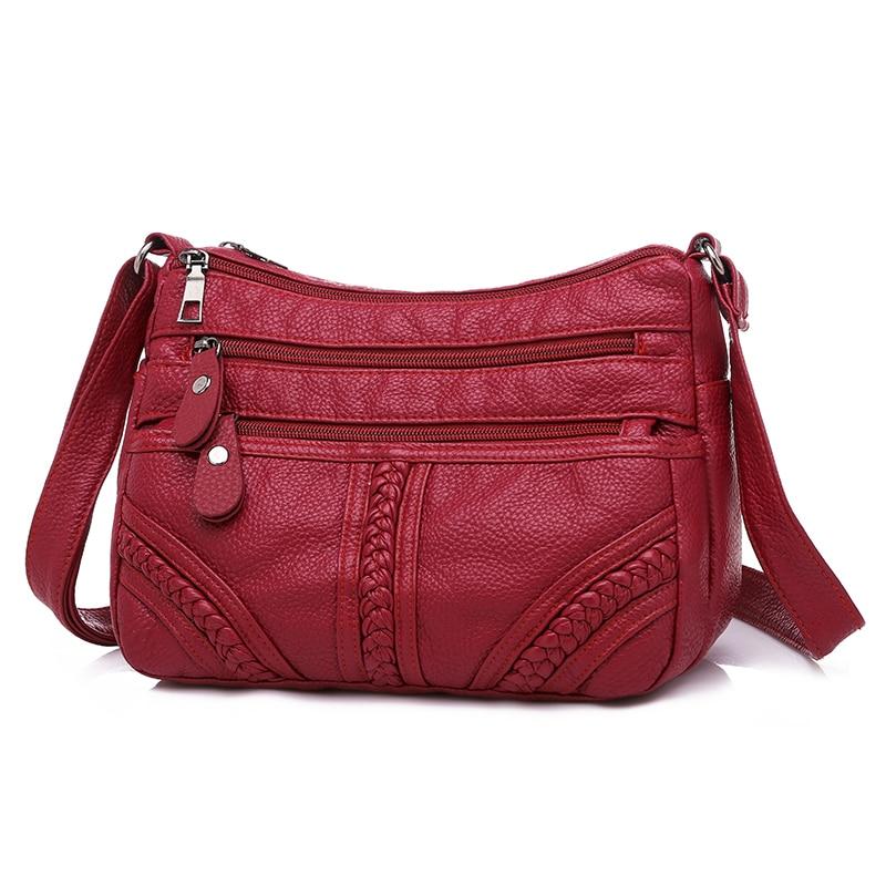 dm prime fênix bolsa de couro vermelha