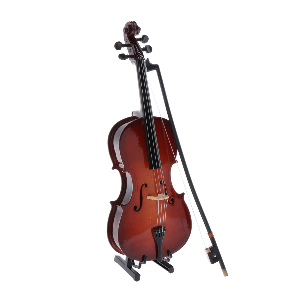 17cm Miniature Violin Model for 1//6 Dolls House Music Room Decoration