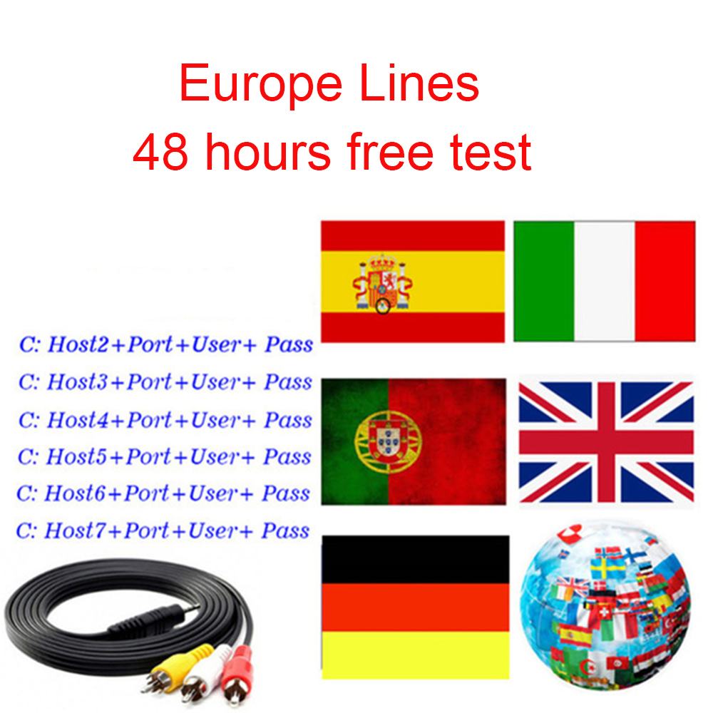 30pcs/lot 8 Lines For 1 Year Europe Receptor Server HD Germany Spain Portugal For Satellite TV Receiver image