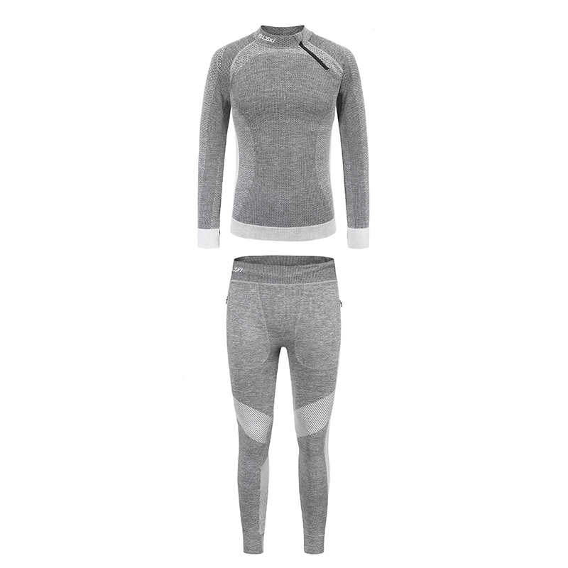 LDSKI sıkıştırma atletik fit activewear kayak iç çamaşırı nem esneklik kumaş cilt temassız dostu