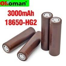 2021 100% original novo hg2 18650 3000mah bateria 18650hg 2 3.6v dedicado para hg2 bateria recarregável de energia para bateria