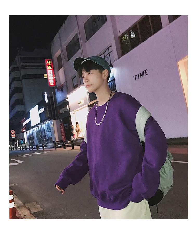 Men Hoodies Sweatshirts Street wear Black Hoodie Male Hip hop Winter Basic Hoodies 35