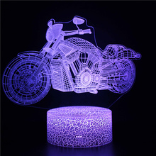 3d Lamp Motorcycle Night Light for Baby Bedroom Bedside Lamp Home Decoration Creative Gift for Kids Boys  Holiday Birthday