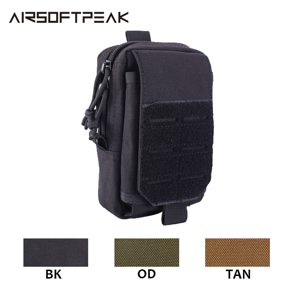 Tactical Molle Pouch 1000D Nylon Military Waist Bag EDC Pack Outdoor Vest Belt Pack Hunting Phone Case Airsoft Accessories Tools