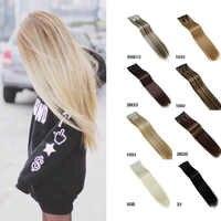 MUMUPI mode femmes 24 pouces 60cm Extensions de cheveux naturel postiches droite synthétique Clip dans Extensions de cheveux