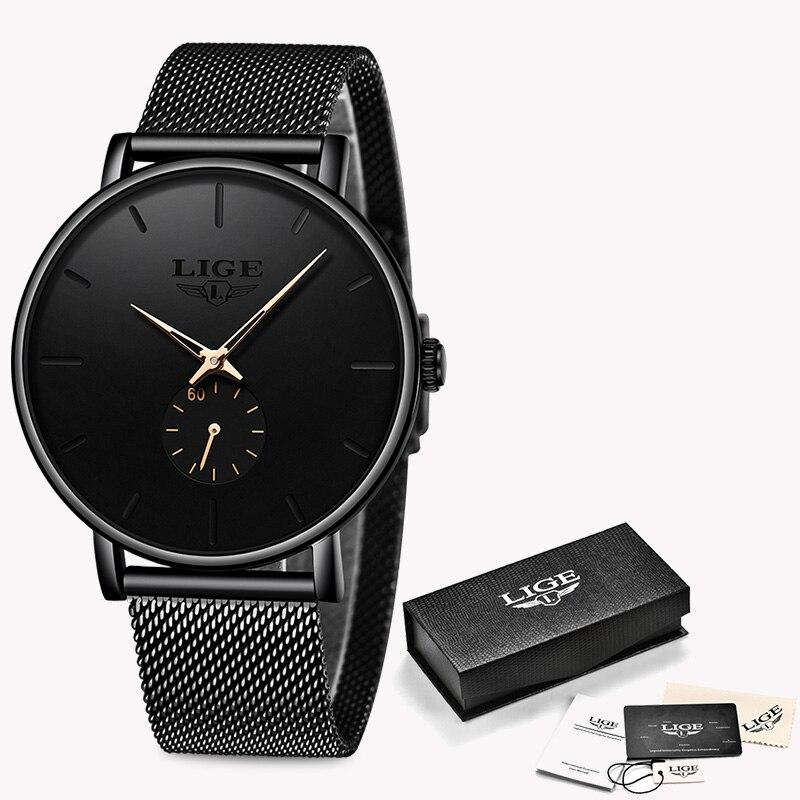 Watch Men 2020 LIGE Clearance Sale $ 14.99 Fashion Business Men Watches Top Brand Luxury Waterproof Casual Simple Quartz Watch 2