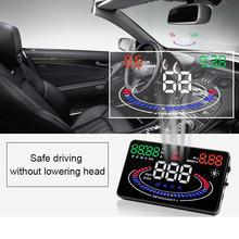 Автомобильный Универсальный hud head up display obd obd2 скоростной