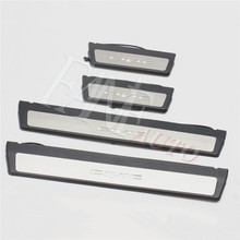 Car Styling Stainless Steel Led Door Sill Scuff Plate Guard Sills Protector Trim For Honda Civic 2012 2015 9TH Modulo