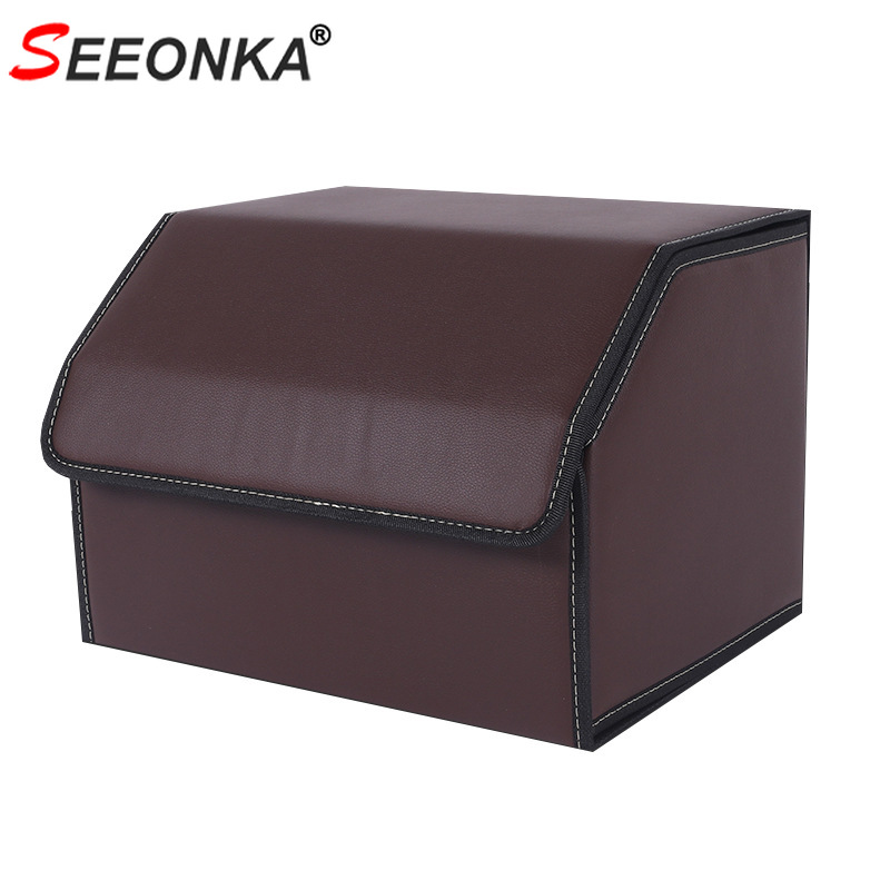 Auto Trunk Storage Box Car Trunk Organizer PU Leather Storage Bag for Not Messy Save Space Vehicle Automobile Products