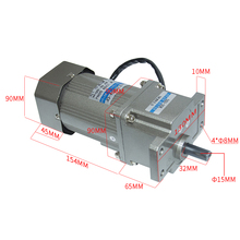 AC120-5GUD High Torque AC Gear Motor With 5GUD Gearbox AC Gear Motor 110V/220V 120W 7.5/15/23/34/54/75/108/150/180/270/450Rpm ac 380v 40w three phase gear motor with gearbox ac gear motor