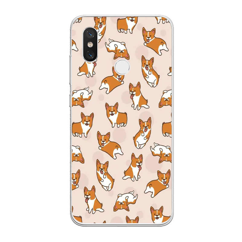 Ciciber Kat Hond Corgi Cover Voor Xiao Mi Mi X Max 3 2 1 S Pro Mi A2 A1 9 8 6 5 X 5C 5S Plus Lite Se Pocophone F1 Telefoon Case Tpu