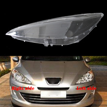 For Peugeot 408 2009   2012 front headlamps transparent lampshades lamp shell masks headlights cover lens Headlight glass