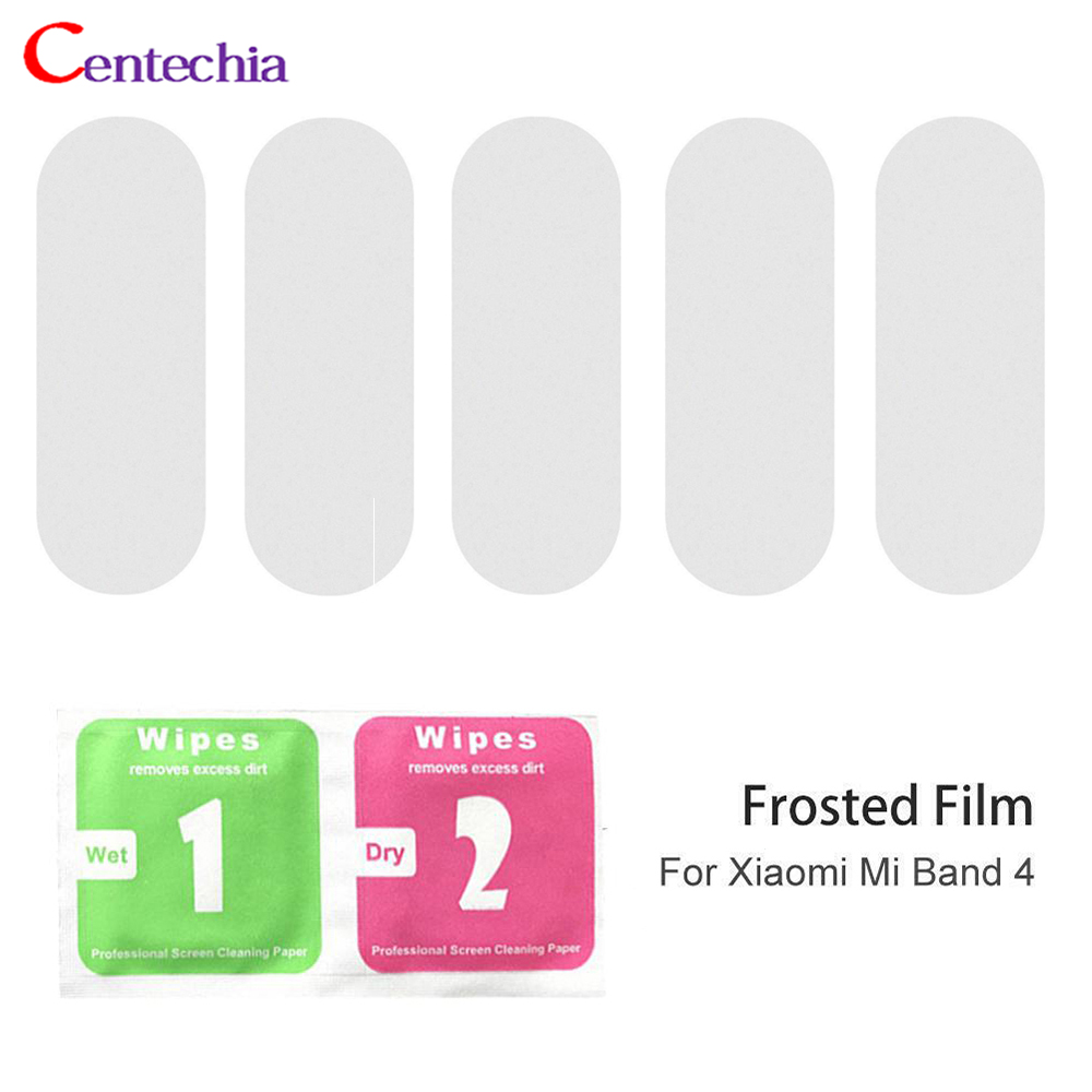 5Pcs Protective Film For Xiaomi Mi Band 4 Smart Wristband Bracelet LCD Pet Full Screen Protector Hydrogel Not Tempered Glass