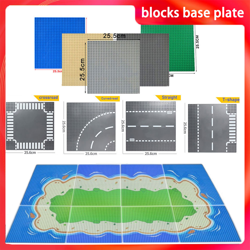 32*32 Dots Classic Base Plates Bricks City Baseplate Board Compatible With Lego Figures Building Blocks Toys For Children