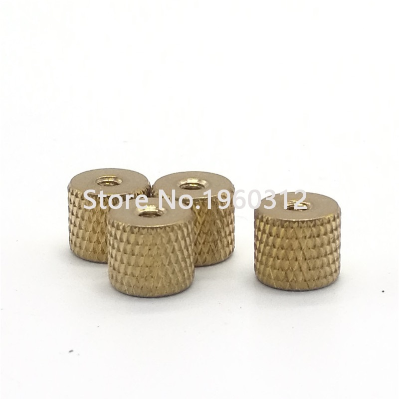 10pcs  M2 M2.5 M3 M4 Knurled Nut Brass Thumb Nut Cylindrical Adjust For Water Cooling PC Case Model