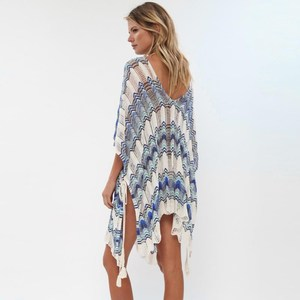 Image 4 - Oversize Crochet Beach Dress Cover up Sarong Kaftan Beach Tunic Plage Bathing suit cover ups Pareo Beach Bikini Cover up #Q776
