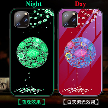 Luminous Tempered Glass Case For iPhone 11 2019 Back Cover Pro XS Max XR X 7 8 Plus