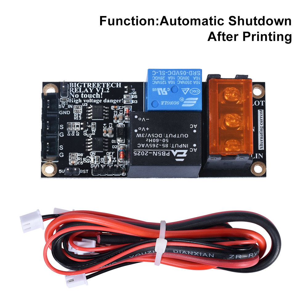 BIGTREETECH Relay V1 2 Module impresora 3D Printer Power Monitoring Module For SKR V1 3 PRO E3 cr10 extruder 3D Printer Parts