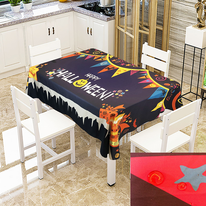 Simanfei Halloween Pumpkin Table Cloth Waterproof Oil proof Creative Printing Table Cover Home Party Decoration Tablecloth in Tablecloths from Home Garden