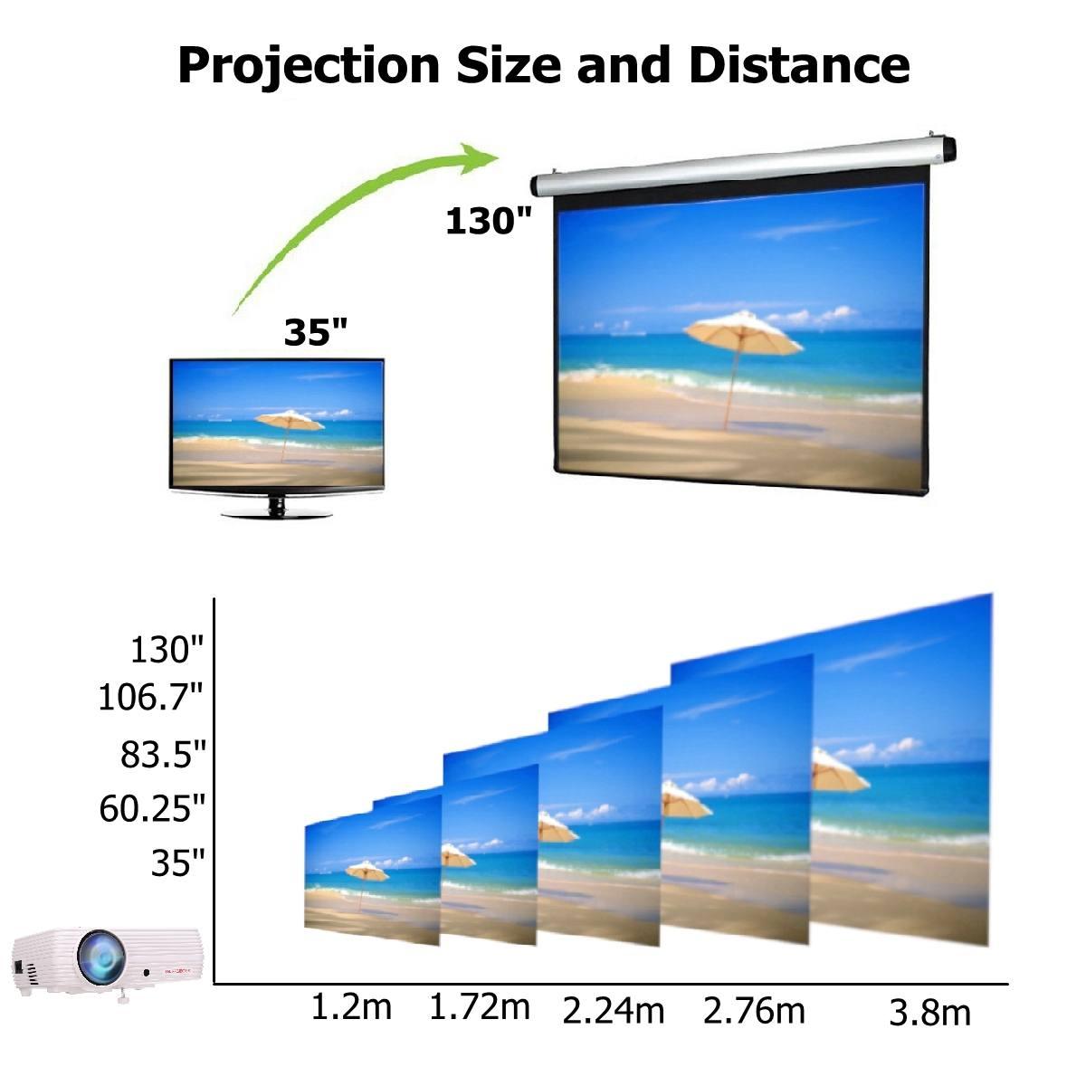 7000 Lumens projecteur Android 6.0.1 Wifi sans fil affichage Home cinéma Proyector soutien Full HD 1080P 4K vidéo avec HDMI - 5