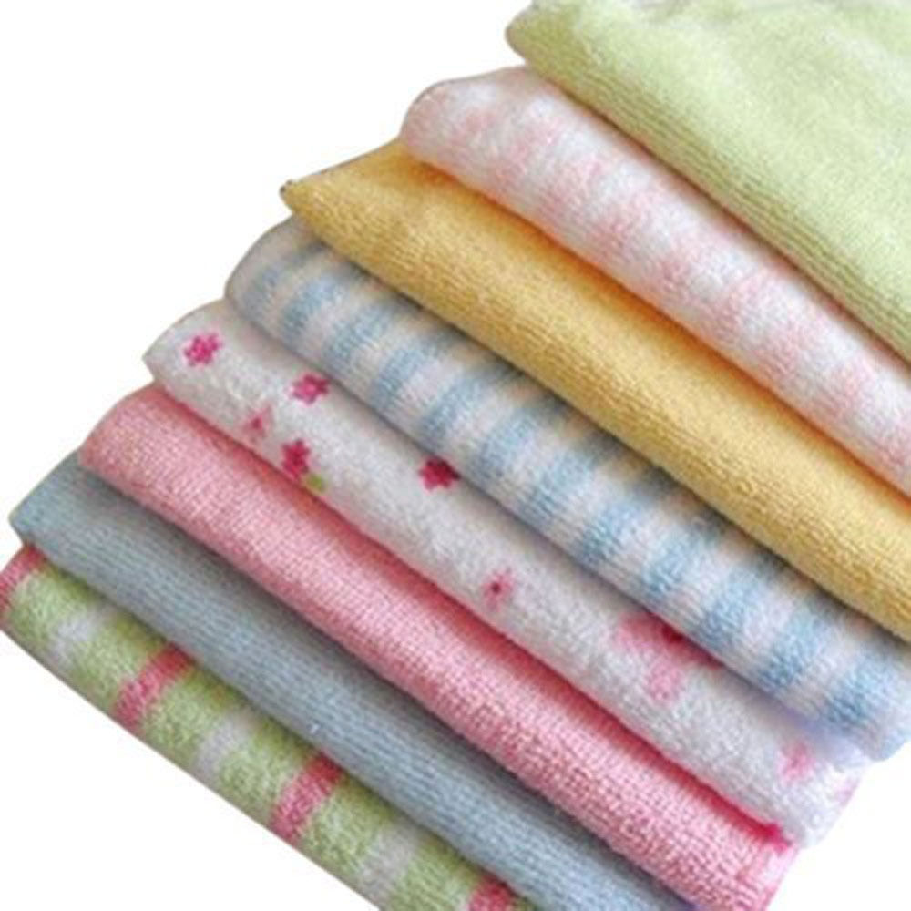 8pcs Soft Baby Cotton Bath Towel Newborn Infant Washcloth Feeding Wipe Kid Face Cloth Children Handkerchief