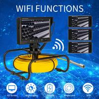 Free DHL UPS snake video endoscope camera Mini Inspection Camera for Drain Sewer Video Inspection 9inch monitor 17mm camera DVR